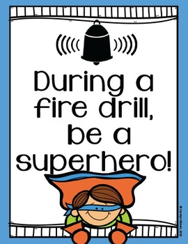 Fire Drill Procedure Posters