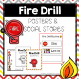 Fire Drill Routine- Poster, Visuals, & Social Stories