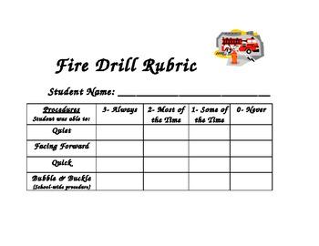 Fire Drill Rubric