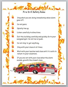 Fire Drill Safety Rules