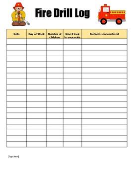 Fire Drill Sheet