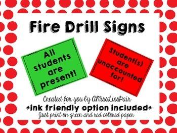 //Fire Drill Signs: Freebie!//