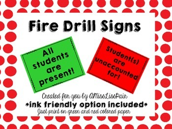 //Fire Drill Signs: Freebie!//