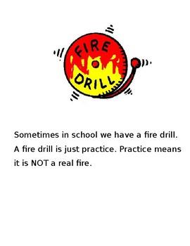 Fire Drill Social Story- Editable