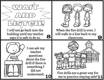 Fire Drill Social Story Mini Book Set