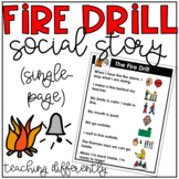 Fire Drill Social Story (Single-Page)