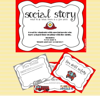 Fire Drill Social Story - Short and Simple - Autism - Special Needs - Fears