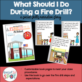 A Social Story for Fire Drills! What Should I Do During a Fire Drill