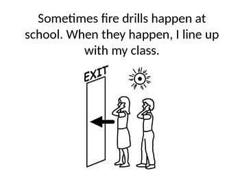 Fire Drill Social Story (when child is in hallway alone)