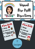 Fire Drill Visual Directions