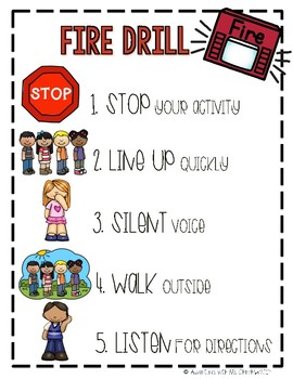 Fire Drill Visual Expectations Poster