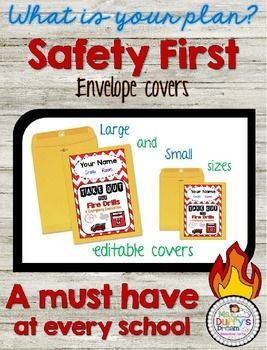 Fire Drill and Emergency Evacuation Envelope Covers Editable {FREEBIE}