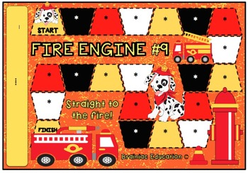 Fire Engine Blank Board Game (EDITABLE)