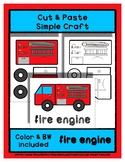 Fire Engine - Cut & Paste Craft - Super Easy Perfect for P