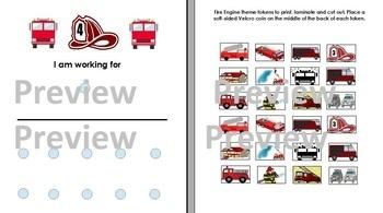 Fire Engine Theme Token Board  Autism, ABA