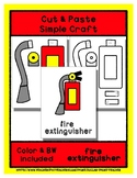 Fire Extinguisher - Cut & Paste Craft - Super Easy for Pre