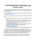 Fire Extinguisher Inspection Log System