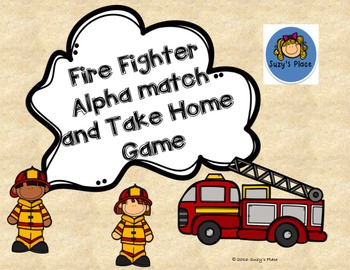 Fire Fighter Alpha Match and Take Home Game