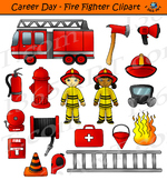 Fire Fighter Clipart - Kid's Career Day