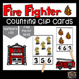 Fire Fighter Count and Clip Number Cards