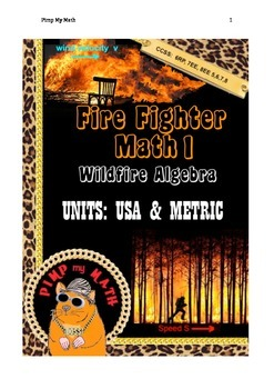 Fire Fighter Math 1: Wildfire Algebra