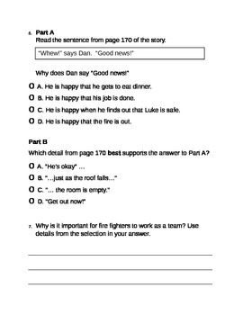 Fire Fighter! PARCC Style Assessment