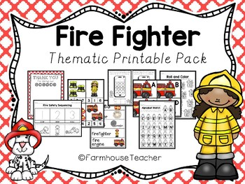 Fire Fighter Thematic Printable Pack
