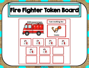 Fire Fighter 10 Token Board