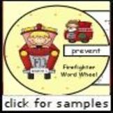 Fire Fighter Word Wheel