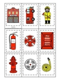 Fire Fighter themed Memory Matching preschool activity.  Daycare educational