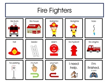 Free Fire Safety - Fire Fighters Structured Play Board for Students with Autism