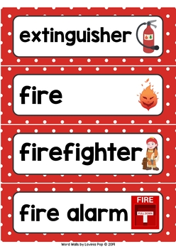 Fire Fighting Word Wall