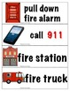 Fire Safety Book, Vocab Cards & Foldable