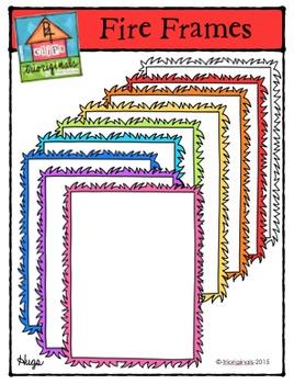 Fire Frames Colours Galore {P4 Clips Trioriginals Digital
