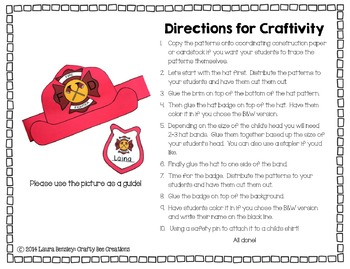 Fire Hat and Badge Craft