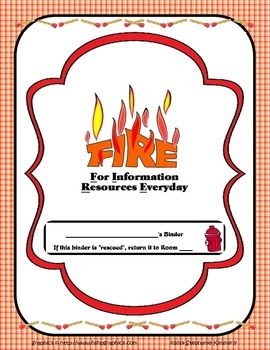 Fire {Hot or Rescue} Binder Cover