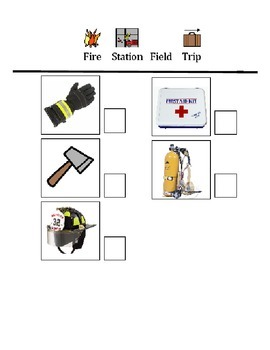Fire House Scavenger Hunt Checklist