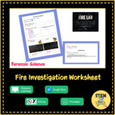 Fire Investigation Worksheet DISTANCE LEARNING