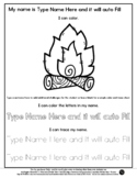 Fire - Name Tracing & Coloring Editable Sheet  #60CentFind
