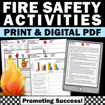 Fire Safety Rules, Reading a Graph for Fire Safety Unit