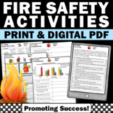 Fire Safety Activities, Reading a Graph Practice