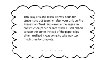 """Fire Prevention Month Arts and Crafts Activity """"Sparky"""""""