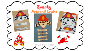 "Fire Prevention Month Arts and Crafts Activity ""Sparky"""