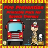 Fire Prevention Speech Therapy Printable Pack