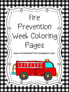First Grade Health: Fire Safety Coloring Pages