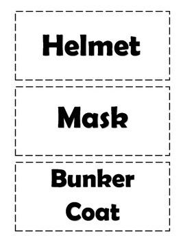 Fire Prevention Week Fire Gear Labels