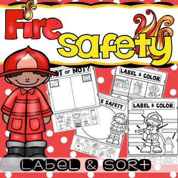 Preschool Fire Safety Booklet Printables | 350x350