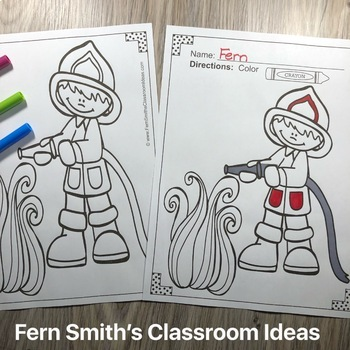 Fire Safety Coloring Pages Dollar Deal