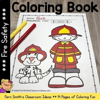 Fire Safety Coloring Pages Dollar Deal - 17 Pages of Fire Safety Coloring Fun