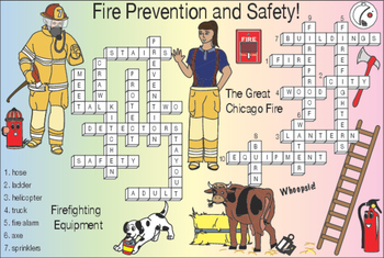 Fire Prevention and Safety Two-Page Activity Set